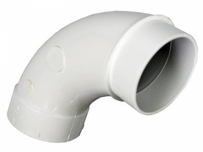 Колено на 90 градусов для монтажа труб встроенного пылесоса