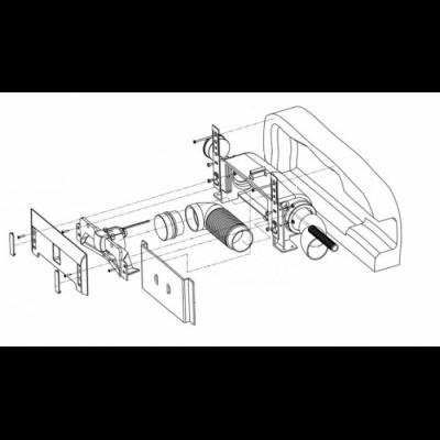 Монтажная коробка пневмосовка LEOVAC в стену
