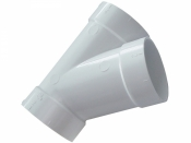Тройник пвх 45° Y (мама-мама-мама) для монтажа системы центрального пылесоса