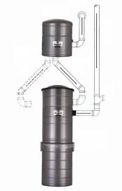 Встроенный пылесос VacuMaid S3500 Split